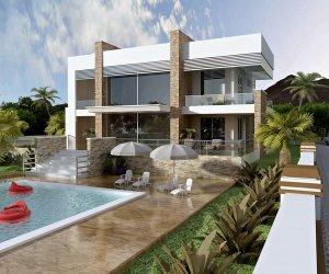 İki Katlı Çelik Villa Evler